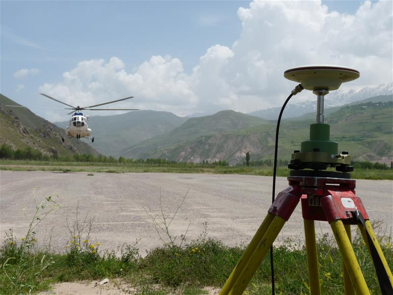 Trans Asia gas pipeline Russian Mi-8 helicopter LiDAR survey